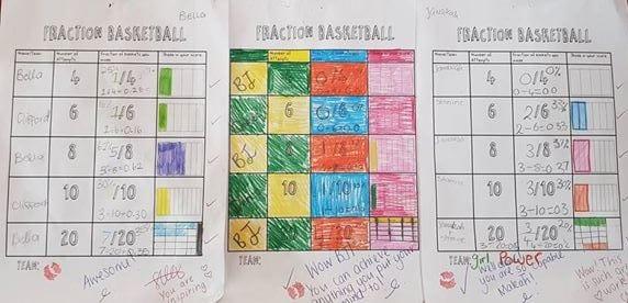 Fraction Basketball – Class Tournament